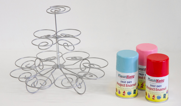 plastikote spray paint cake stand
