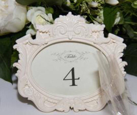 WEdding table numbers afterwards