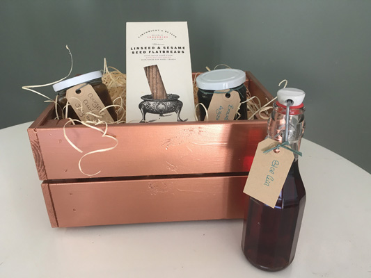Christmas gift box using MEtallic Copper