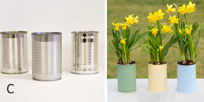 From tin cans to planters
