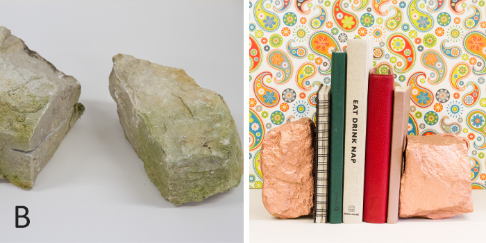 From rocks to bookends