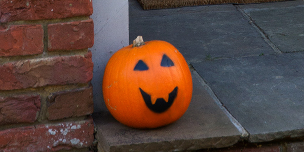 Pumpkin face in copy