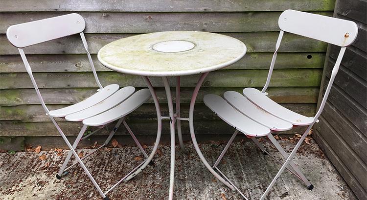 1 - garden furniture before