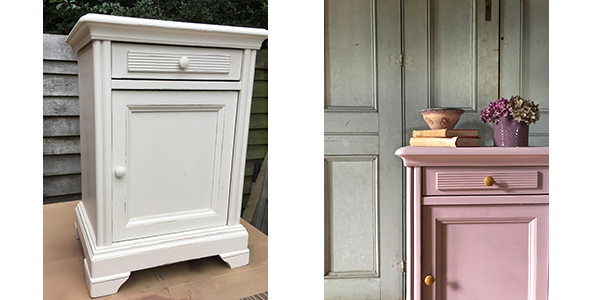 chalk cabinet before and after