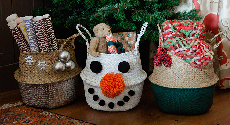 Painted Baskets Spray Paint Ideas