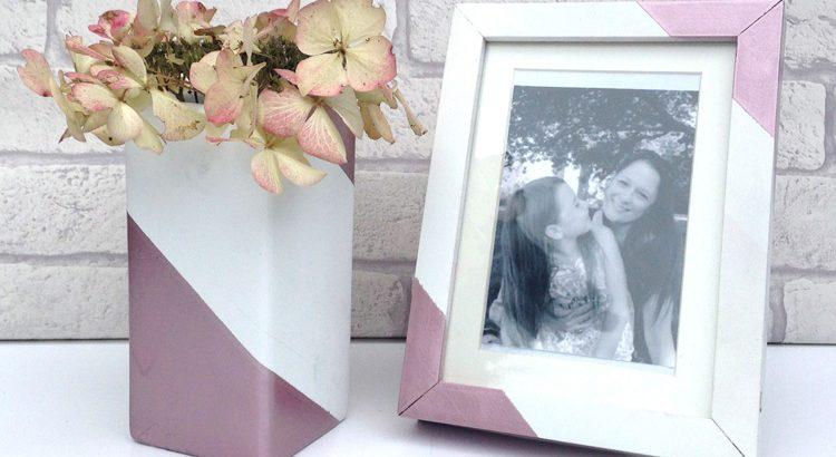 PlastiKote Rose Gold - vase and frame for SPI