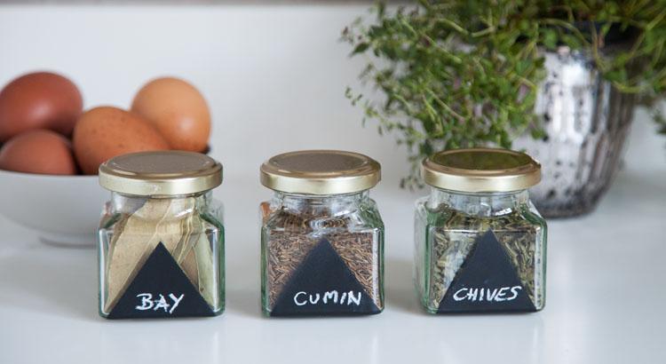 herb jars chalkboard