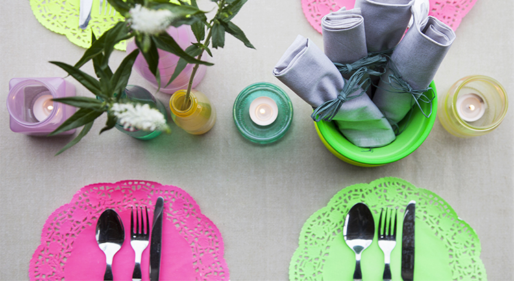 Colourful dining featured